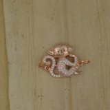 Bamboo Front View -  Pendant - Copper Monkey Charm (1501D)