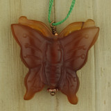 Bamboo Side 1 View - Pendant - Pendant -Carnelian Butterfly Pendant A (1553A)
