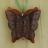 Bamboo Side 1 View - Pendant -Carnelian Butterfly Pendant B (1553B)