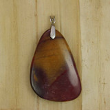 Necklace - Red and Yellow Jasper Pendant ( (000896)) Side A