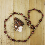 Bamboo View - Maroon Cultured Potato Pearl and Imitation Shell Pearl Necklace (1226)