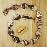 Bamboo view - Brazilian Zebra Jasper on Antique Copper Necklace (1318)