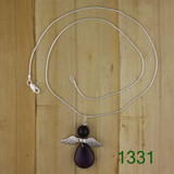 Bamboo View - Amethyst Angel Necklace on Sterling Silver (1331)