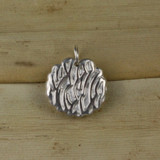 Bamboo Rear View - Seashell pendant made with .999 Fine Silver (1334)