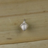 Bamboo Side View - Acorn pendant made with .999 Fine Silver (1339)