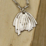 Bamboo View - Poppy Seedpod pendant made with .999 Fine Silver (0309)