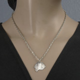 Mannequin View - Poppy Seedpod pendant made with .999 Fine Silver (0309)