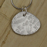 Bamboo View - Paisley pendant with .999 Fine Silver (1351) side A