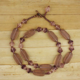 Bamboo View -  Eternal Etching Necklace on Antique Copper 23 inches (1385)
