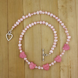 Bamboo View - Pearly Pink Pussy-cat Necklace (18 inches) (1388)