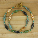 Bamboo View - Votive Venus Necklace on gold plate (1378)