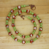 Bamboo View - Spring Sunset Orange Chrysoprase Necklace  (24 inches) (1371)