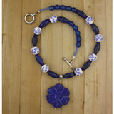Bamboo View - Lapis Flower and Chrysoprase (16 inches) (0619)