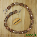 Bamboo View -  Light Petoskey Stone on Silver Plate Necklace (1322)