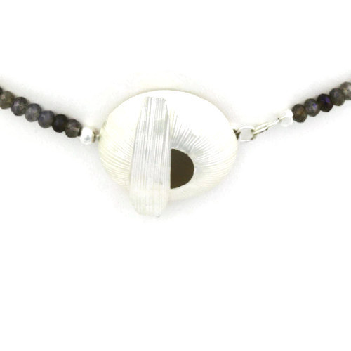Clasp View - Labradorite Necklace (1223)