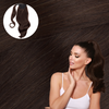 Bel Air Brunette Wrap Ponytail. Real Human Remy Hair.