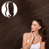 Cashmere Hair Brown Wrap Ponytail