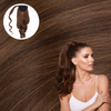 Starlet Brunette Real Human Remy Hair Wrap Ponytail