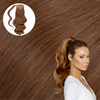 Hollywood Bronzed Brunette Wrap Ponytail Real Human Remy Hair