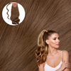 Beverly Hills Brunette Real Human Remy Hair Wrap Ponytail