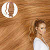 Copper Strawberry Blonde Real Human Remy Hair Wrap Ponytail