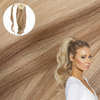 Pale Ash Blonde Real Human Remy Hair Wrap Ponytail