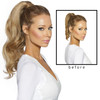 Before and after Cashmere Hair Wrap Ponytail Hair Extensions