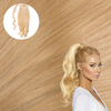 California Blonde Real Human Remy Hair Wrap Ponytail Cashmere Hair