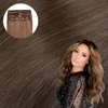 Light Brown Clip In Hair Extensions Cashmere Hair