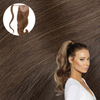 Light Brown Real Human Remy Hair Wrap Ponytail  Cashmere Hair Extensions