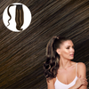 Bombshell Brunette Real Human Remy Hair Wrap Ponytail Cashmere Hair