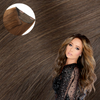 Cashmere Hair Volumizer One Piece Hair Extension Light Brown