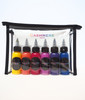Create your own rainbow and colored clip in hair extensions with the Cashmere Hair Rainbow Dye Kit.