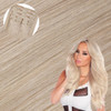 Platinum Blonde Seamless Clip In Hair Extensions by Cashmere Hair
