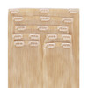 Lightest Blonde Seamless Clip In Hair Extensions by Cashmere Hair