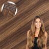 Beverly Hills Brunette Seamless Clip In Hair Extensions by Cashmere Hair