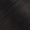 Black Brown Seamless Clip In Hair Extensions by Cashmere Hair