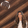 Starlet Brunette Seamless Clip In Hair Extensions by Cashmere Hair
