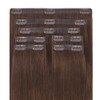 Light Brown Seamless Clip In Hair Extensions by Cashmere Hair