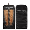 Hair extensions inside of the storage bag