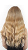 Model With Natural Blonde Cashmere Hair Clip In Hair Extensions Back View