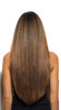 Model with Beverly Hills Brunette Cashmere Hair Clip In Extensions Back View