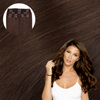 Brown Cashmere Hair Clip In Hair Extensions