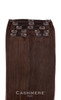 7 Pieces Brown Cashmere Hair Clip In Hair Extensions