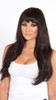 Model with Cashmere Hair Black Brown Clip In Hair Extensions