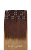 7 Pieces Ombre Cashmere Hair Clip In Extensions