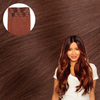 ROXBURY RED Cashmere Hair Clip In Hair Extensions