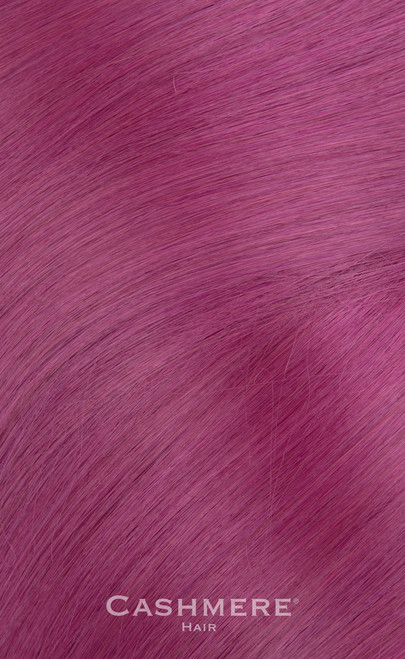 Purple Peek-A-Boo Clip In Cashmere Hair Extensions