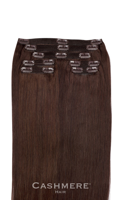 ... Brown Cashmere Hair Clip In Hair Extensions fe98ddcf1c37