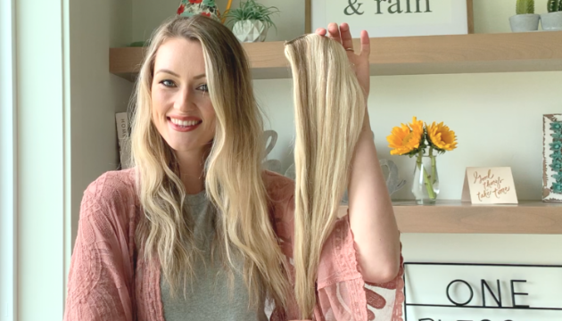 hair extensions swatch for color matching